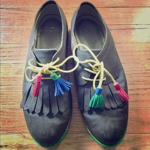 Camper Lace Up Tassel Brogues